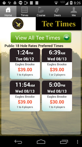 Eagles Brooke Golf Tee Times