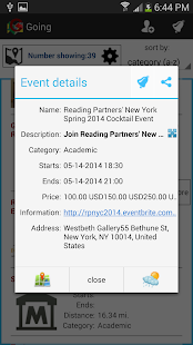Going: Places and Events- screenshot thumbnail