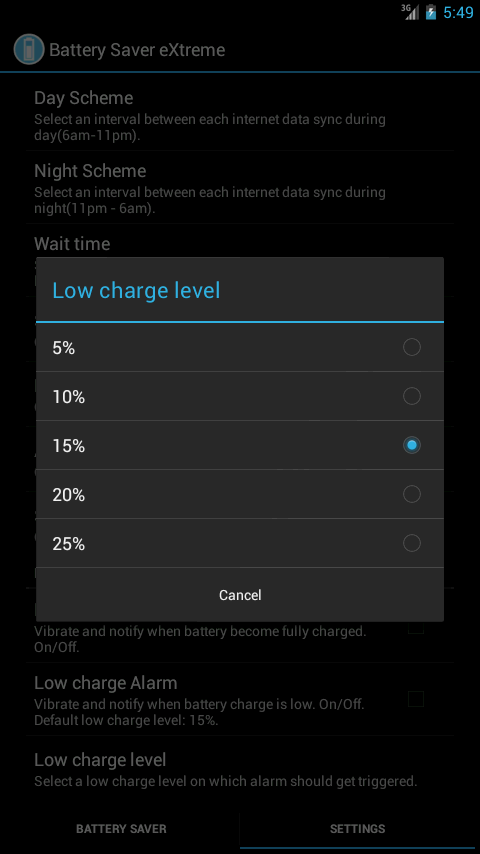Battery Saver eXtreme - screenshot