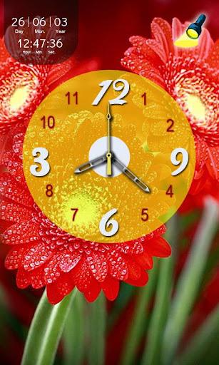 Flower Flashlight N Clock LWP