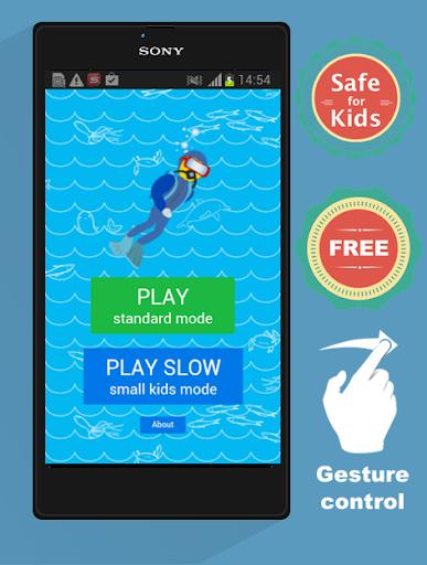 海潜水员。免费儿童游戏