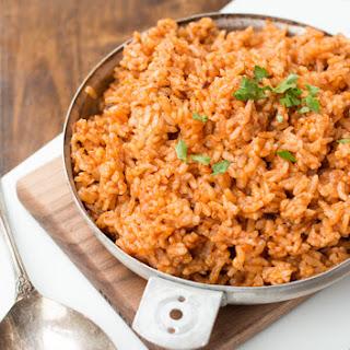 Quick and Easy 3 Ingredient Spanish Rice.