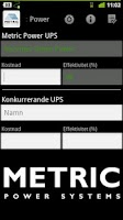 Screenshot of Metric Power