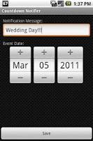 Screenshot of Countdown Notifier