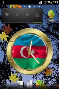 Azerbaijan flag clocks screenshot 0