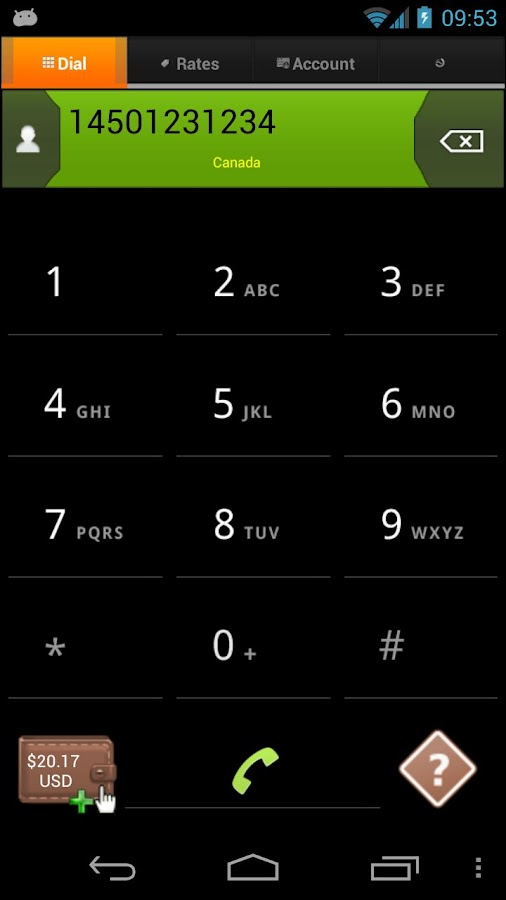 WiCall : VoIP call, Wifi call- screenshot