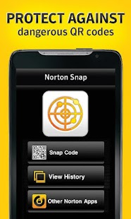 Norton Snap qr code reader- screenshot thumbnail