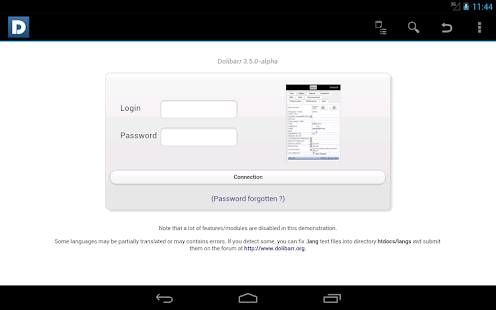 DoliDroid (Dolibarr ERP & CRM) - screenshot thumbnail