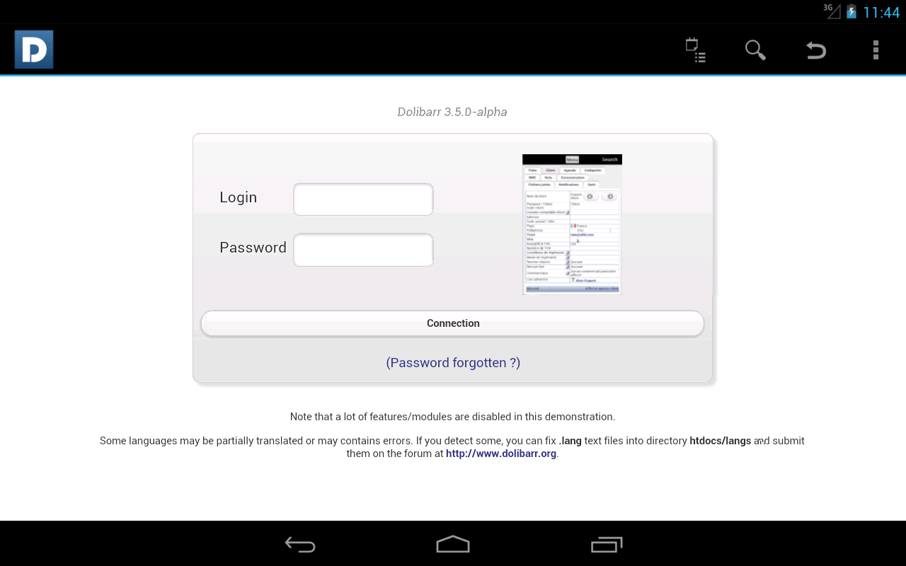 DoliDroid (Dolibarr ERP & CRM)- screenshot