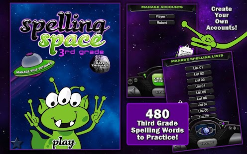 Spelling Space - 3rd Grade - screenshot thumbnail