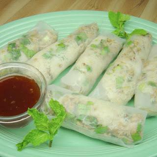 Thai Larb Soft Rolls.