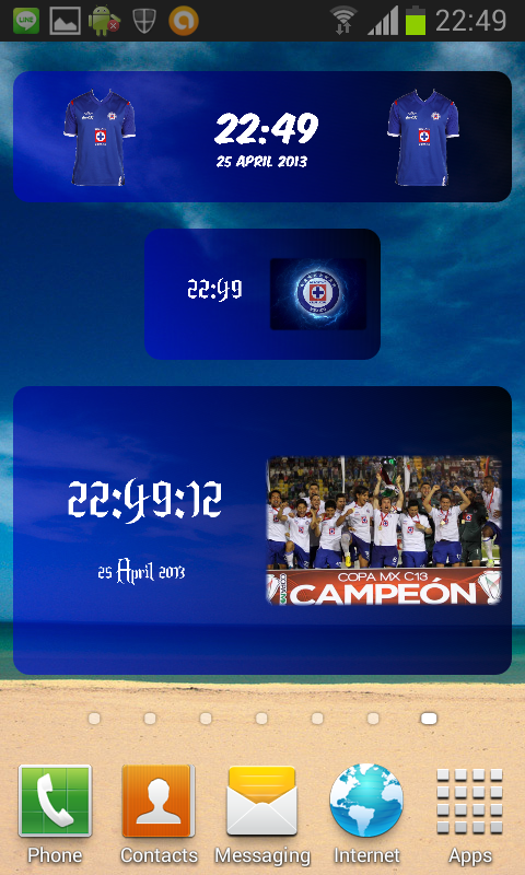 Digital Clock Cruz Azul - screenshot