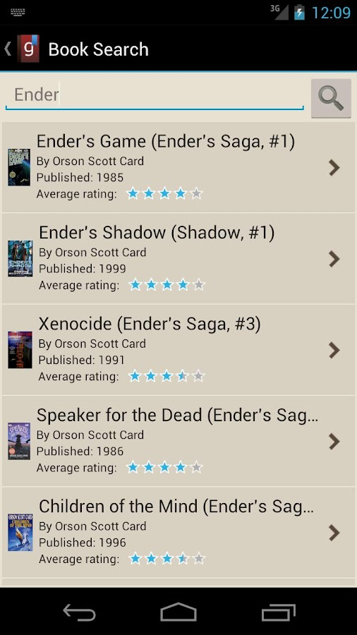 Goodreads Droid - screenshot