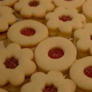 Sugar Free Sour Cream Linzer Cookies.