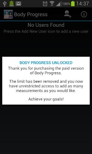 Body Progress Unlocker
