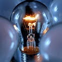 Electricity Light Bulb Glass logo
