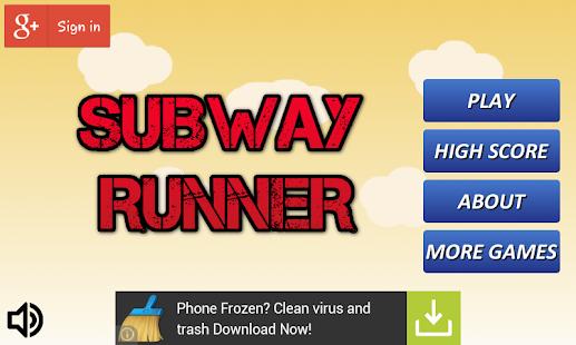 Subway Runner Free Game