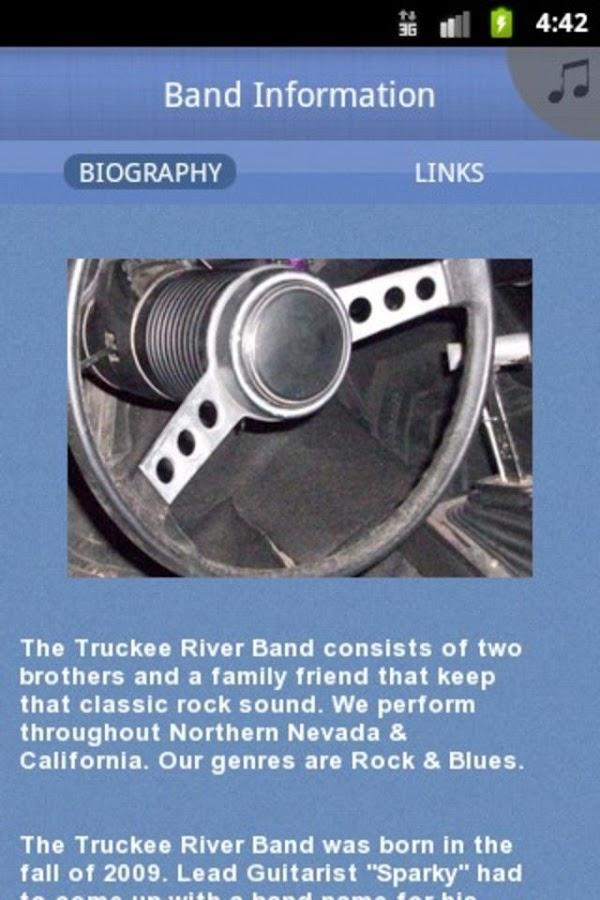 Truckee River Band - screenshot