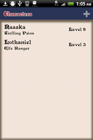 D&D 4 Android - screenshot