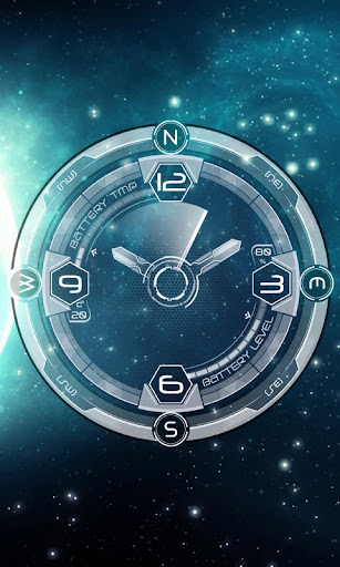 Transparent Clock Galaxy LWP