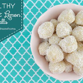 Healthy Coconut Lemon Balls.