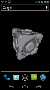 Companion Cube 3D (HD) LWP- screenshot thumbnail