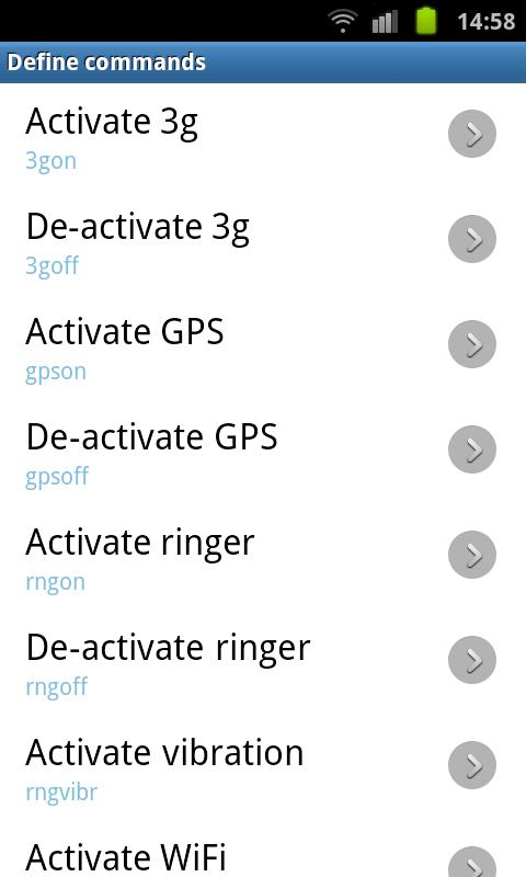 SMS Device Control Lite - screenshot