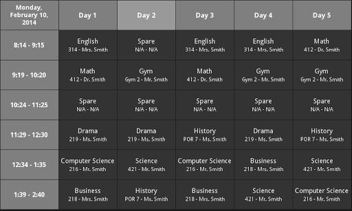 WCI Schedule