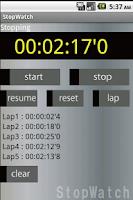 Screenshot of StopWatch Free