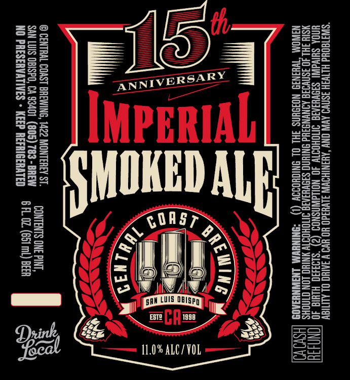 Logo of Central Coast Brewing 15th Anniversary