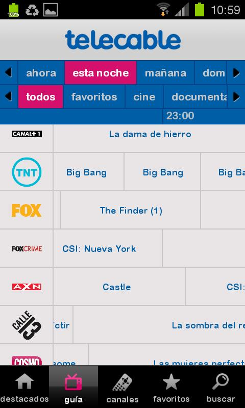 Guía telecable TV- screenshot