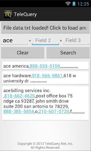 TQ Plain Text File Search