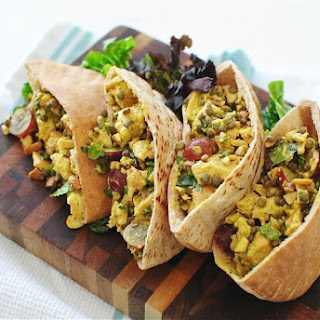 Curried Chicken and Lentil Pita Pockets