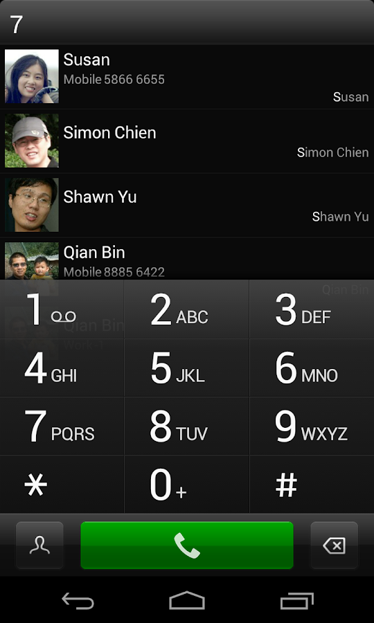 exDialer Dark Theme- screenshot