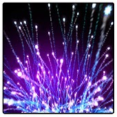 Fiber Optic Burst Wallpaper