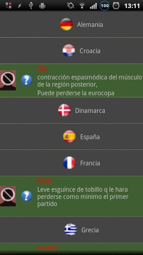 Euro 2012 Puntos Comunio Pro- screenshot