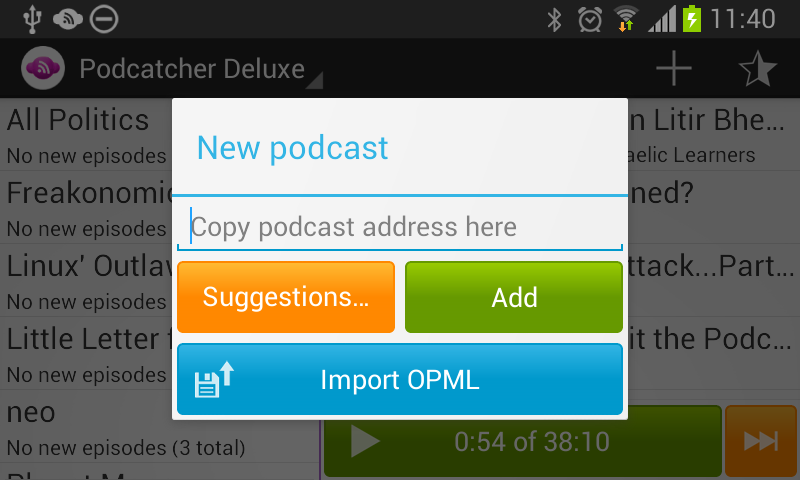 Podcatcher Deluxe - screenshot
