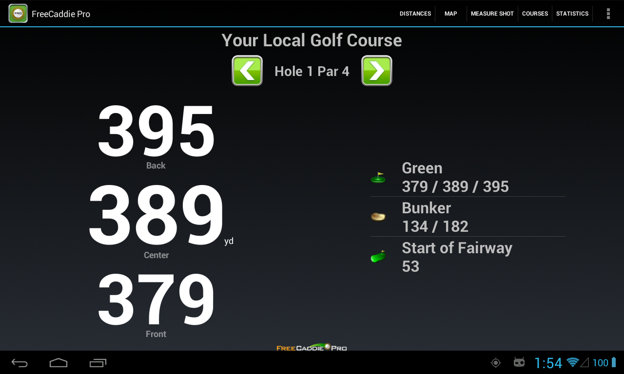 FreeCaddie Pro Golf GPS - screenshot
