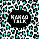 White Mint Leopard Kakao Theme icon