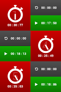 Multiple stopwatches FREE- screenshot thumbnail