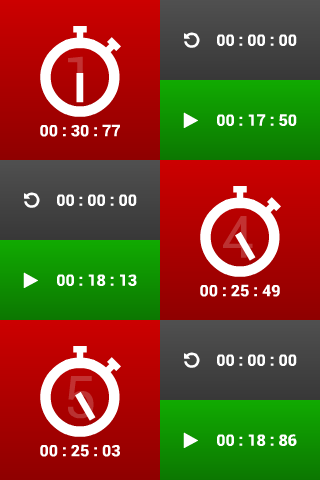 Multiple stopwatches FREE - screenshot