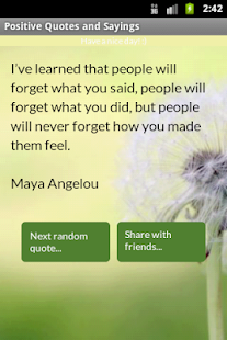 Positive Quotes and Sayings - screenshot thumbnail
