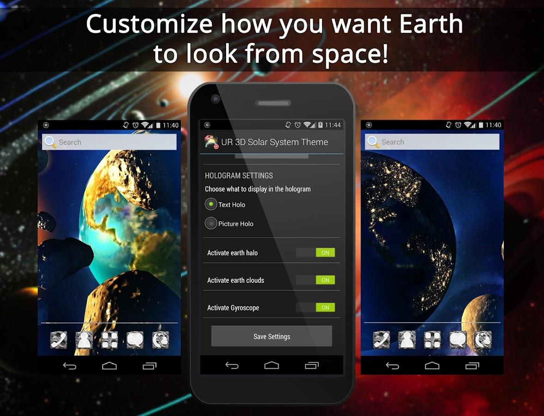 Gmail live themes - Ur 3d Solar System Live Theme Screenshot