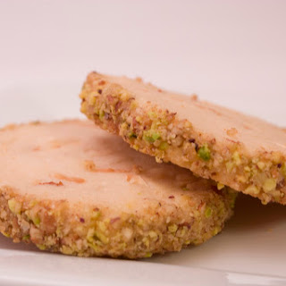 Cream Cheese Almond Cookies with mix nut coating