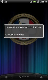 DOMINICAN REPUBLIC GOLD Clock - screenshot thumbnail