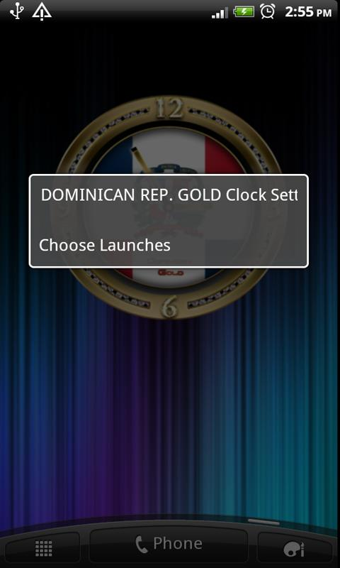 DOMINICAN REPUBLIC GOLD Clock - screenshot