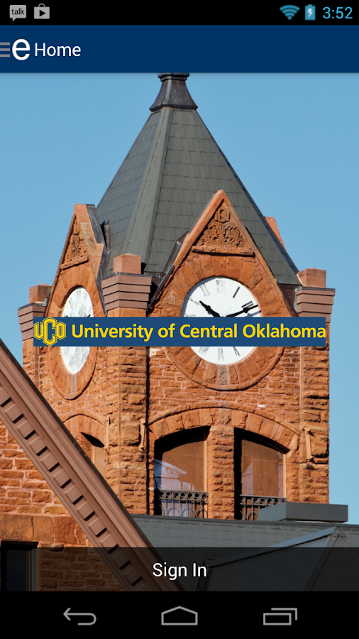 University of Central Oklahoma- screenshot