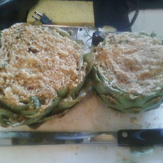 Parmesan Romano Stuffed Artichokes