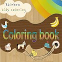 Rainbow Coloring book for kids icon