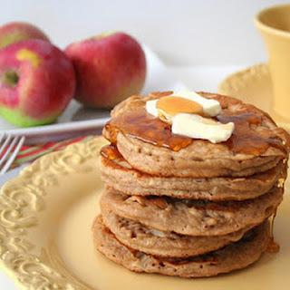 Whole Wheat Apple Cider Pancakes.